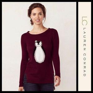 LC Lauren Conrad Penguin Hi-Low Sweater NWT